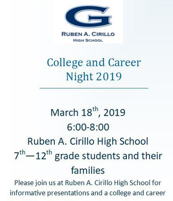 College and Career Readiness March 18th