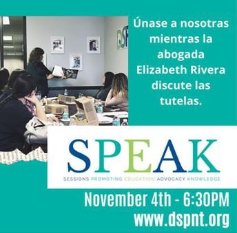SPEAK - Abrogada habla sobre la tutela