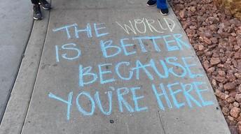 Sidewalk Messages of Hope