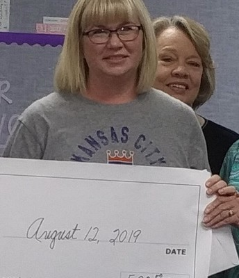 Motor Lab grant given to Mrs. Skinner!