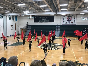 EC Students in OJRMS Indoor Color Guard