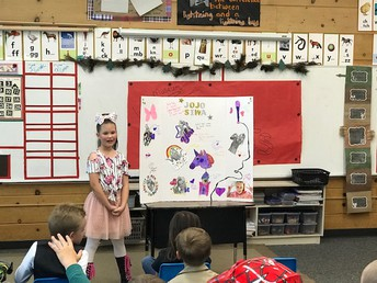 3rd graders presenting to their students and parents