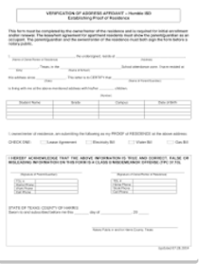 Step #8: Address Affidavit (REQUIRED for select families... see below)