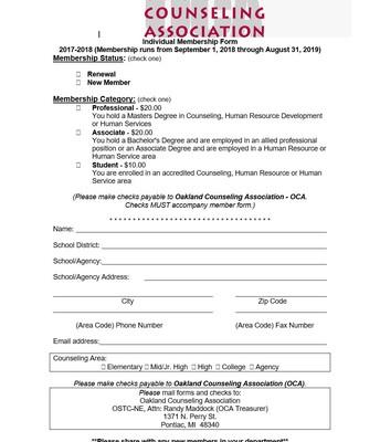 Individual Membership Form