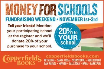 MONEY FOR SCHOOLS FUNDRAISING WEEKEND