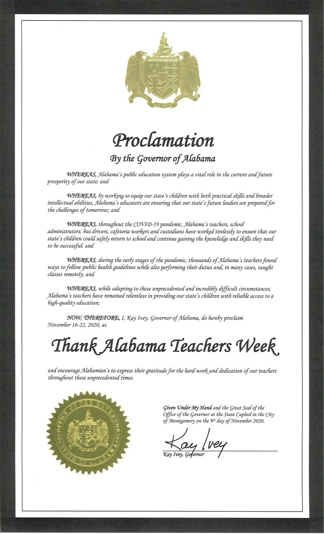 Proclamation by Governor Kay Ivey
