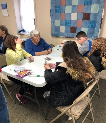 Fifth Graders visit to Senior Center