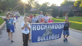 Rockbrook's Float in the WHS Homecoming Parade