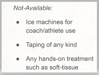 Unavailable Services - Covid-19 Safety Precautions