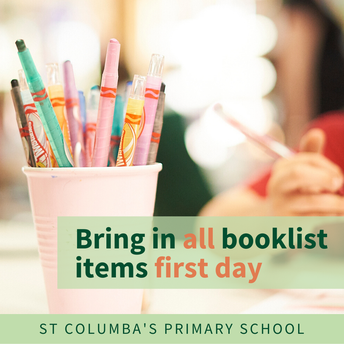 Bring in all booklist items on the first day