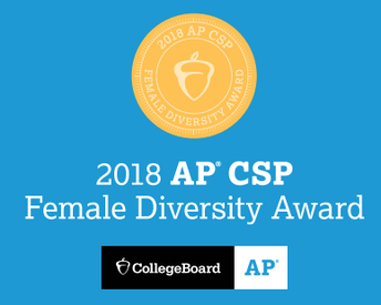 WHS Earns College Board's AP Computer Science Female Diversity Award