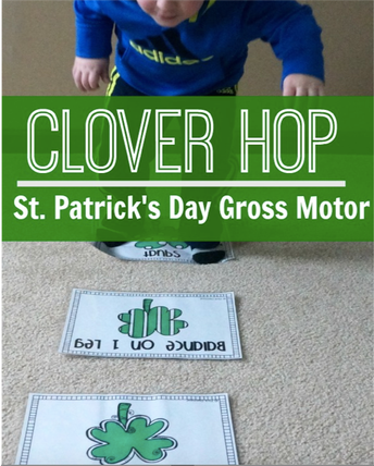 St. Patrick's Day Clover Hop Game!