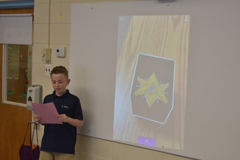 3rd Grade was able to see their 3D creations with the help of AR technology!