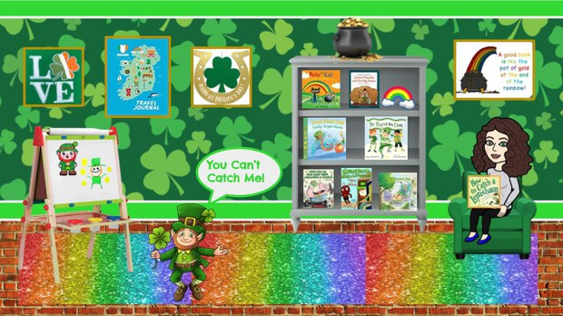 St. Patrick's Day Virtual Room