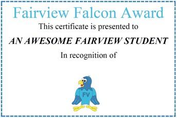 FAIRVIEW FALCON AWARD WINNERS