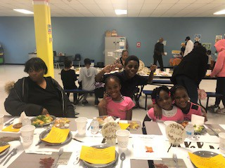 Families having dinner together.  We are thankful for you!
