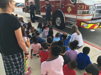 the Fire Department visits PreK