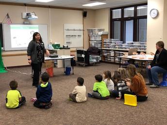 McMillen visited both pre-school and kindergarten this week
