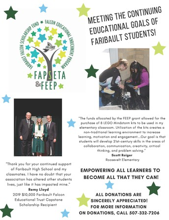 How you can support Faribault students through FAPSETA and FEEP