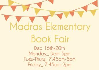 Madras Elementary Book Fair Flyer