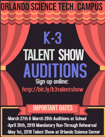K-3 Talent show Auditions