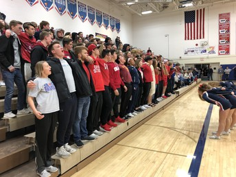 UHS Student body on hand to cheer on the J-Hawks!