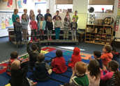 Kindergarteners practice performing!