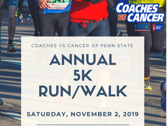 Coaches Vs Cancer 5K; Saturday, November 2nd!