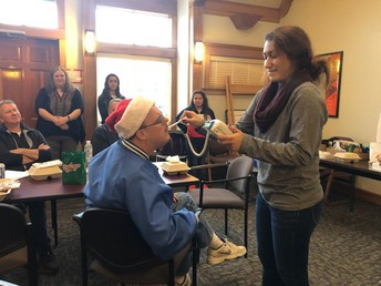 Ibeth Gomez Practicing Medical Skills on Lion Matt Holt