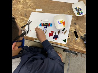 5th/6th grade Stained Glass Project