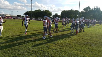 Football kicked off with a scrimmage last week!  Their first game is Friday vs Hightower at Freedom Field in Alvin!  Come out and support!