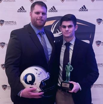 Josh McGovern honored with Mini Maxwell award