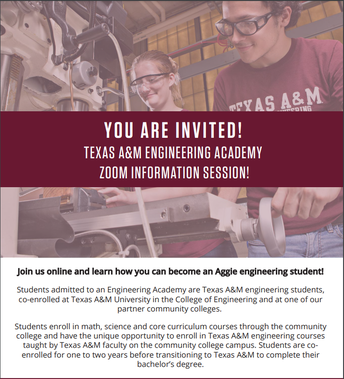 Texas A&M - Chevron Engineering Academy at Dallas College - ZOOM MEETING MARCH 4th