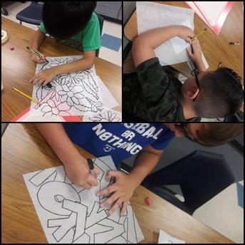 4th grade batik projects in art class