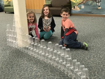 100th Day Cup Stacking