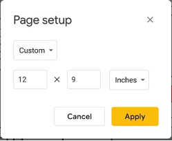Bonus Tip!        Page Sizes in Slides and Drawings