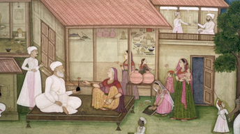 Unknown -Mughal Painting of Indian  Village Scene - c. 1770