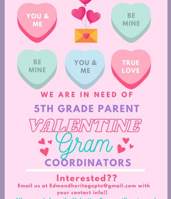 💕💌 5th Grade Parent Volunteers | Valentine Gram Committee