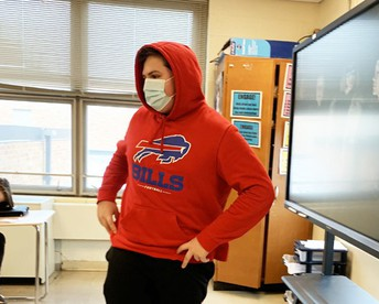 Ethan was proud to represent his team the Buffalo Bills