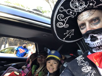 """Catrin"" with some trunk or treaters"