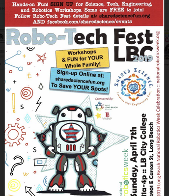 April 7th: Robo-Tech Fest LBC