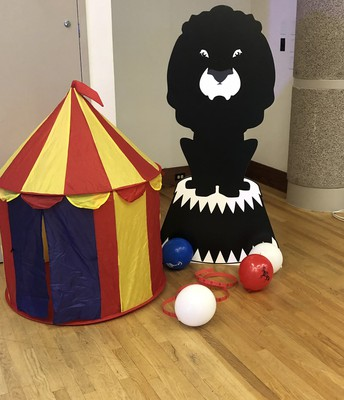 Circus themed decorations for Prom Spectacular!