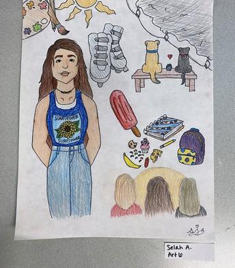 6th Grade - Selah's Self Portrait