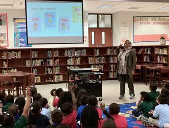 Author Saadia Faruqi at Hicks Elementary