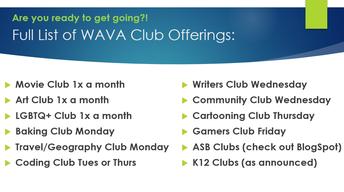 Clubs List