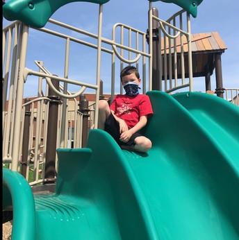 Student on Slide