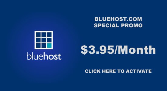 activate bluehost coupon code with free domain offer