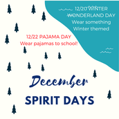 12/20 - Winter Wonderland Day & 12/22 - Pajama Day