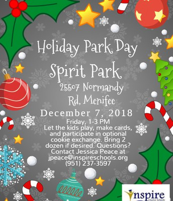 Holiday Park Day at Spirit Park!