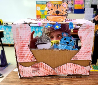 4th Grader at CES Designs a Puppet Show